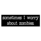 Sometimes I worry... Bumper Car Sticker