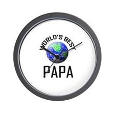 World's Best PAPA Wall Clock