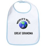 World's Best GREAT GRANDMA Bib