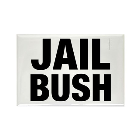 Jail Bush Rectangle Magnet