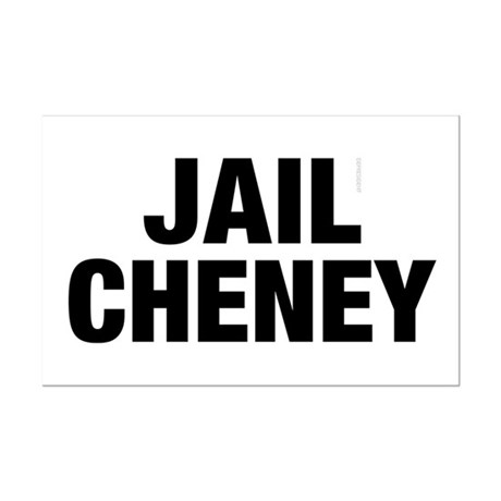 Jail Cheney Mini Poster Print
