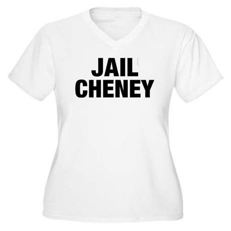 Jail Cheney Plus Size V-Neck Shirt