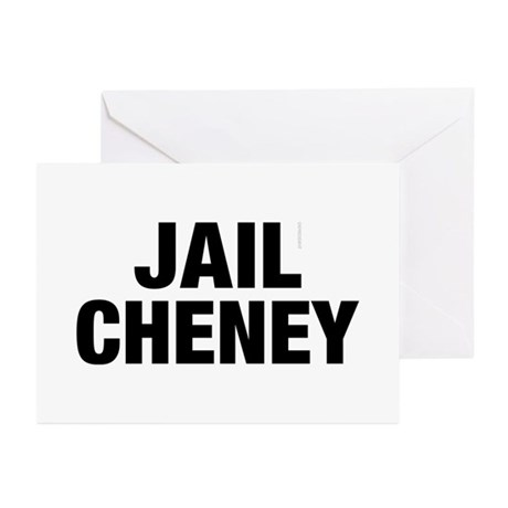 Jail Cheney Greeting Cards (Pk of 10)
