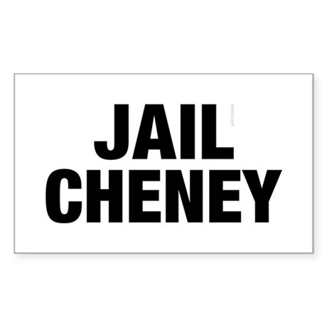 Jail Cheney Rectangle Sticker
