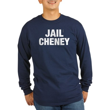 Jail Cheney Long Sleeve Navy Tee