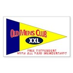 Old Mens Club Rectangle Sticker
