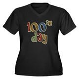 100th Day Back to School Women's Plus Size V-Neck