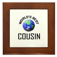 World's Best COUSIN Framed Tile
