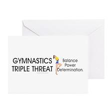 TOP Gymnastics Slogan Greeting Cards (Pk of 10)