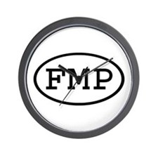 FMP Oval Wall Clock