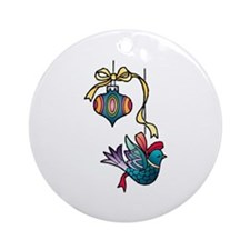 Christmas Art Tree Decorations Round Ornament