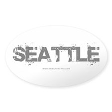 Seattle WA Oval Decal