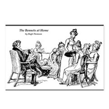 """The Bennets at Home"" Jane Austen Postcards (8)"