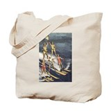 Water Ski Pyramid Tote Bag