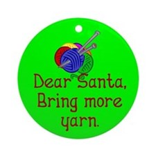 Christmas Ornament (Round). Santa, bring more yarn