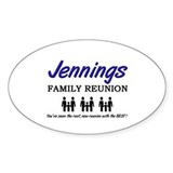 Jennings Family Reunion Oval Decal