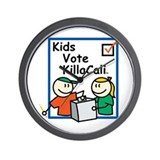 Kids Vote KillaCali Wall Clock