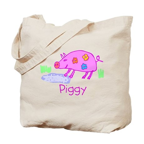 Kid Art Piggy Tote Bag