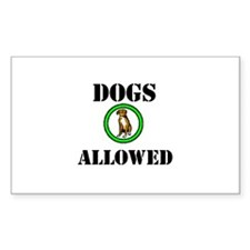 """Dogs Allowed"" Rectangle Decal"