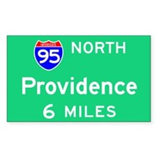 Providence RI, Interstate 95 North Decal