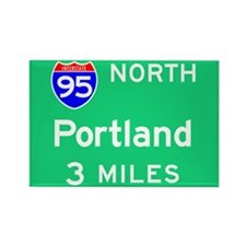 Portland ME, Interstate 95 North Rectangle Magnet