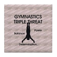 TOP Gymnastics Slogan Tile Coaster