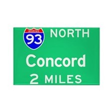 Concord NH, Interstate 93 North Rectangle Magnet