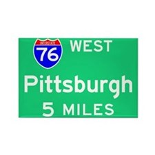 Pittsburgh PA, Interstate 76 West Rectangle Magnet