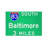 Baltimore MD, Interstate 83 South Rectangle Magnet