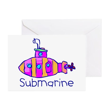 Kid Art Submarine Greeting Cards (Pk of 10)