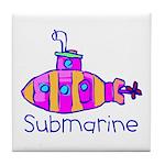 Kid Art Submarine Tile Coaster