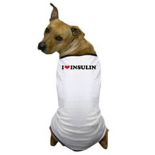 I Love (Heart) Insulin Dog T-Shirt