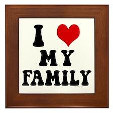I Love My Family - I Heart My Family Framed Tile