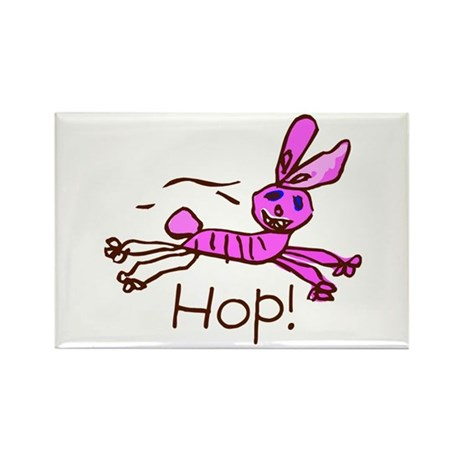 Kid Art Bunny Rectangle Magnet