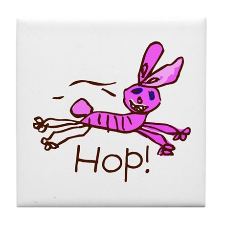 Kid Art Bunny Tile Coaster