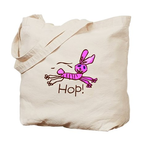 Kid Art Bunny Tote Bag