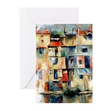 Facades Oil Painting - Blank Note Cards (Pk of 10)