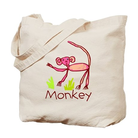 Kid Art Monkey Tote Bag