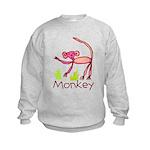 Kid Art Monkey Kids Sweatshirt