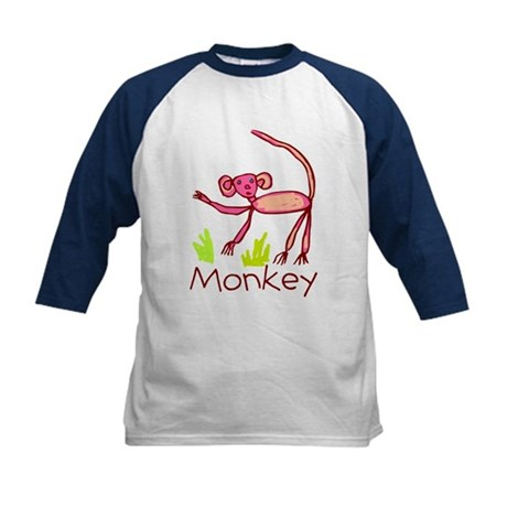 Kid Art Monkey Kids Baseball Jersey