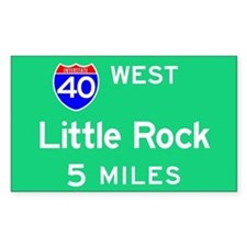 Little Rock AR, Interstate 40 West Decal