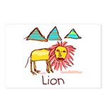 Kid Art Lion Postcards (Package of 8)