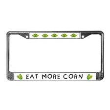 Eat More Corn License Plate Frame