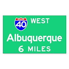 Albuquerque NM, Interstate 40 West Decal