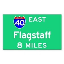 Flagstaff AZ, Interstate 40 East Sticker (Rectangu