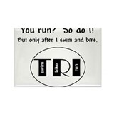 You run? Rectangle Magnet (100 pack)
