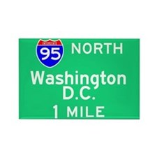 Washington D.C. Interstate 95 North Rectangle Magn