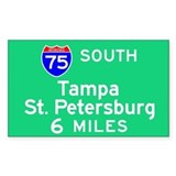 Tampa St. Petersburg FL, Interstate 75 South Stick