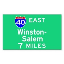 Winston-Salem NC, Interstate 40 East Decal