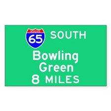 Bowling Green KY, Interstate 65 South Decal